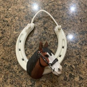 Fancy Feet Lucky Horseshoe Horse Figure